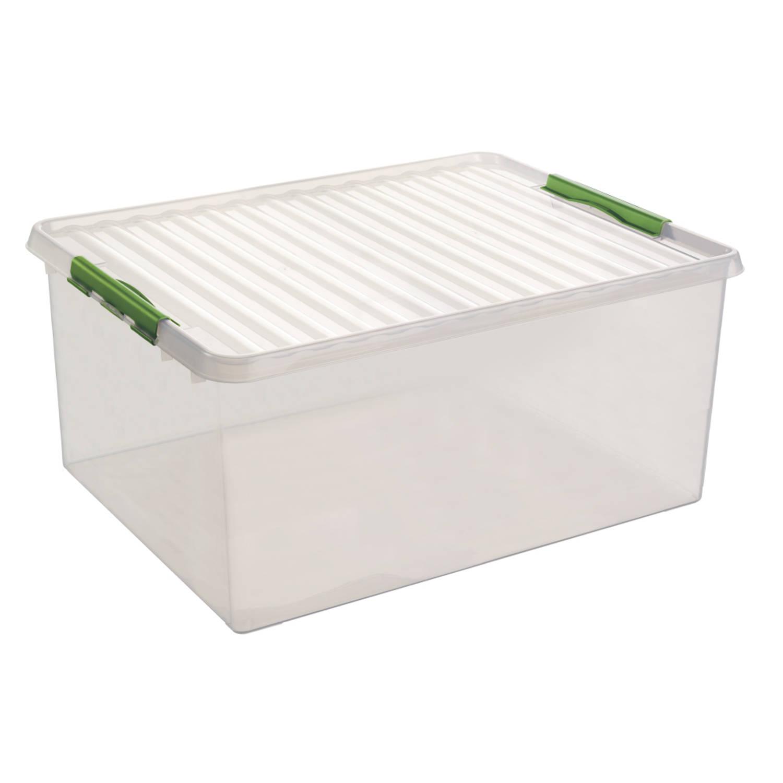 Q-line Opbergbox - Extra groot - 120L - transp/natuur-groen