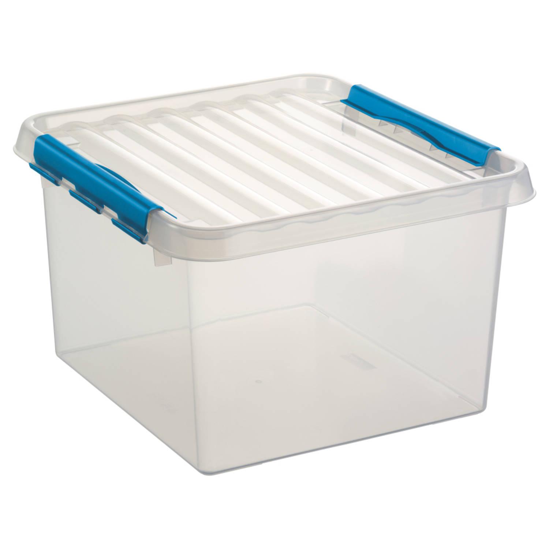 Q-line Opbergbox - 26L - transp/blauw