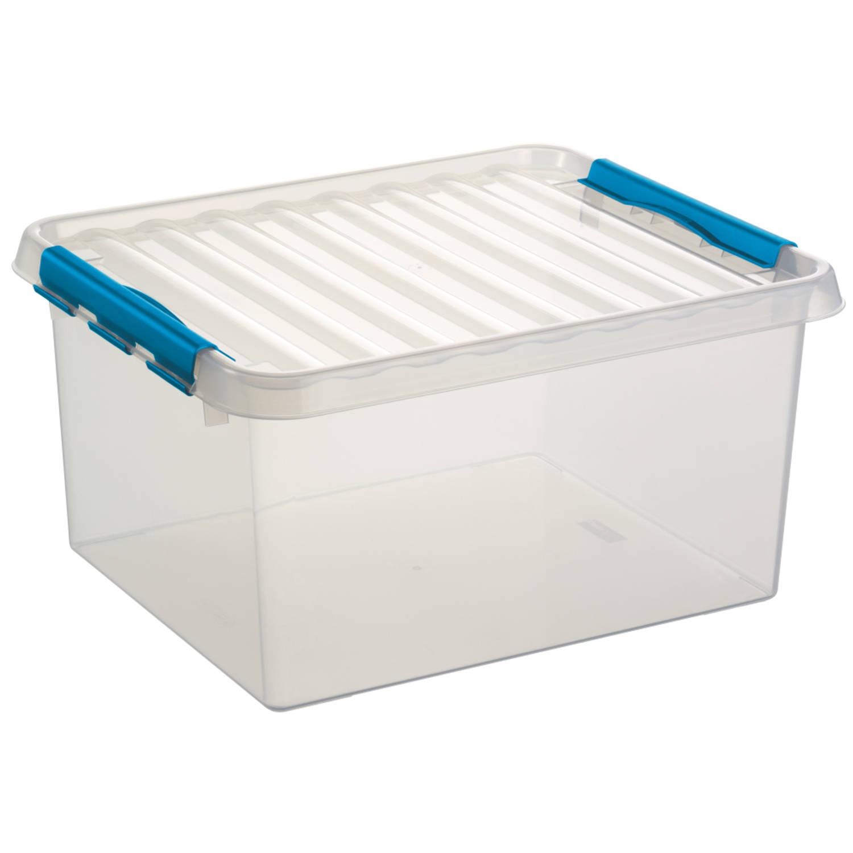 Q-line Opbergbox - 36L - transp/blauw