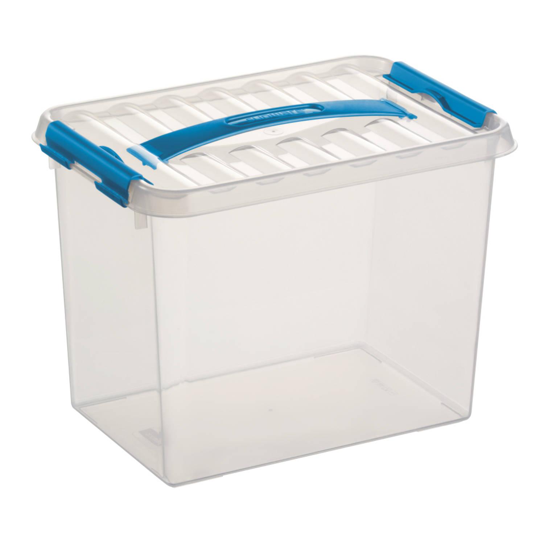 Q-line Opbergbox - 9L - transp/blauw