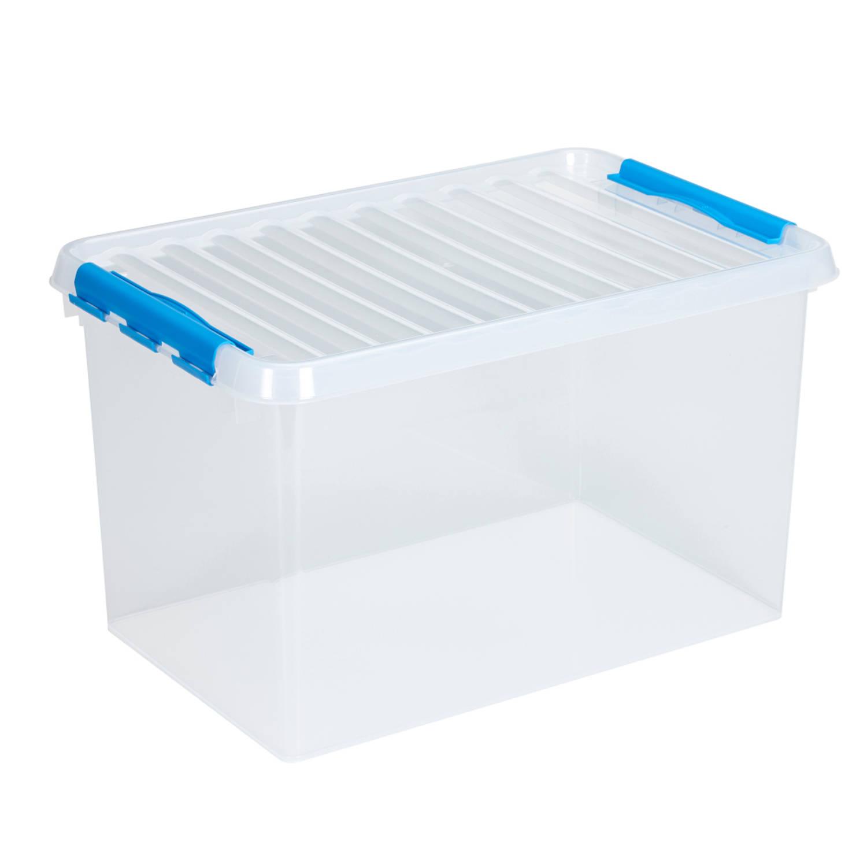Q-line Opbergbox - 62L - transp/blauw