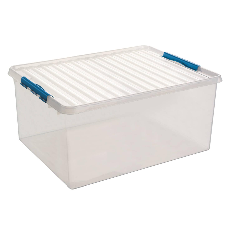 Q-line Opbergbox - Extra groot - 120L - transp/blauw