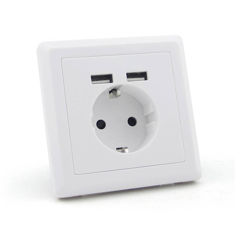 HOMRA USB stopcontact, USB wandcontact 3in1