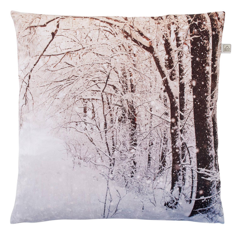 Dutch Decor Sierkussen Snow 45x45 cm lichtgrijs