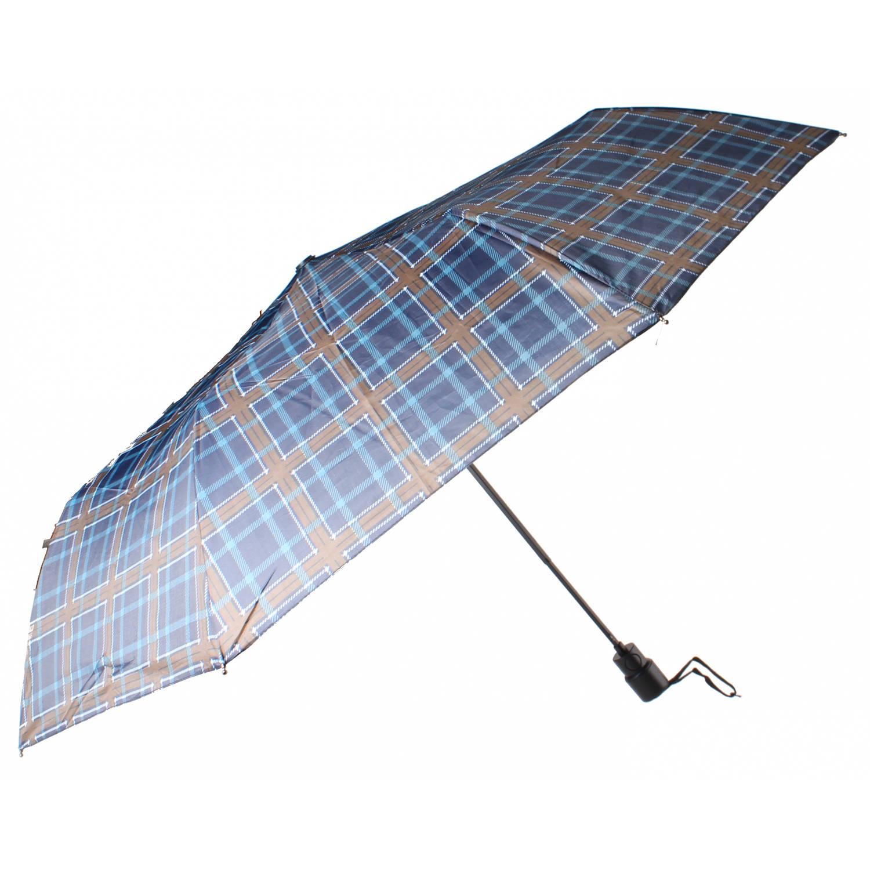 Korting Perletti Paraplu Schotse Ruit Turquoise 99 Cm