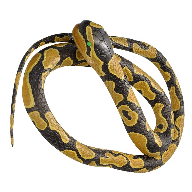 Afbeelding van Rubberen speelgoed koningspython slang mega 183 cm - speelgoed dieren nepslangen