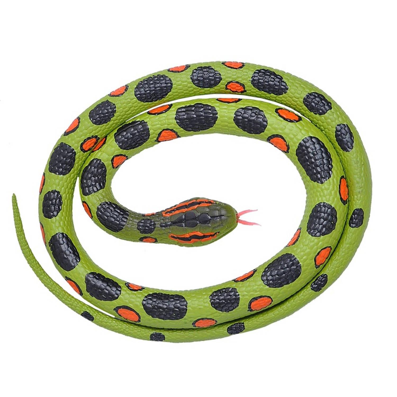 Afbeelding van Rubberen speelgoed anaconda slang 117 cm - speelgoed dieren nepslangen