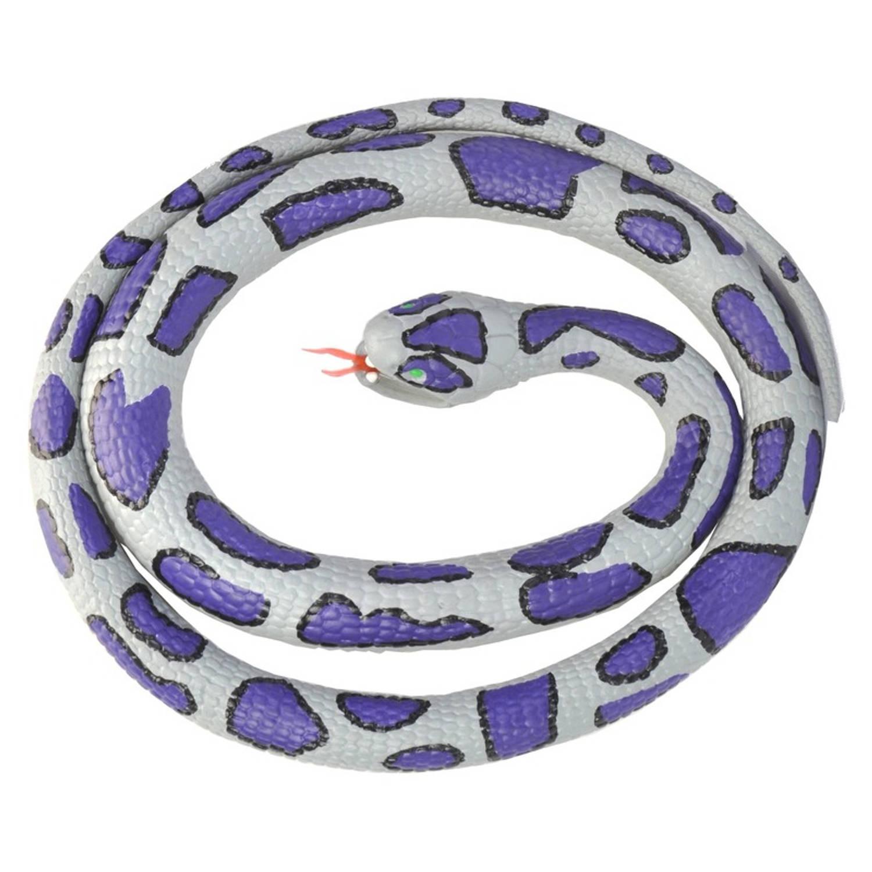 Afbeelding van Rubberen speelgoed ratelslang 117 cm - speelgoed dieren nepslangen