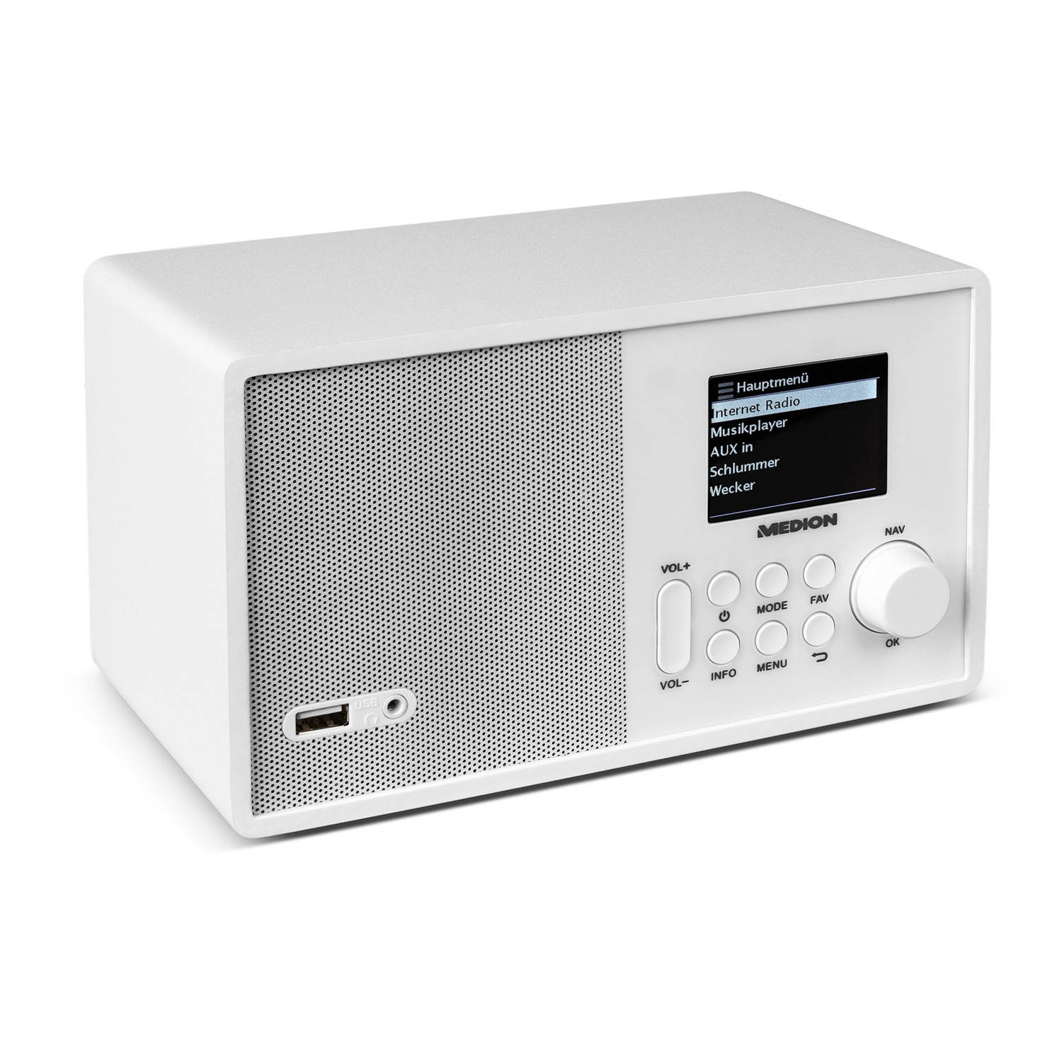 MEDION® LIFE E85040 WiFi Internet Radio (wit)