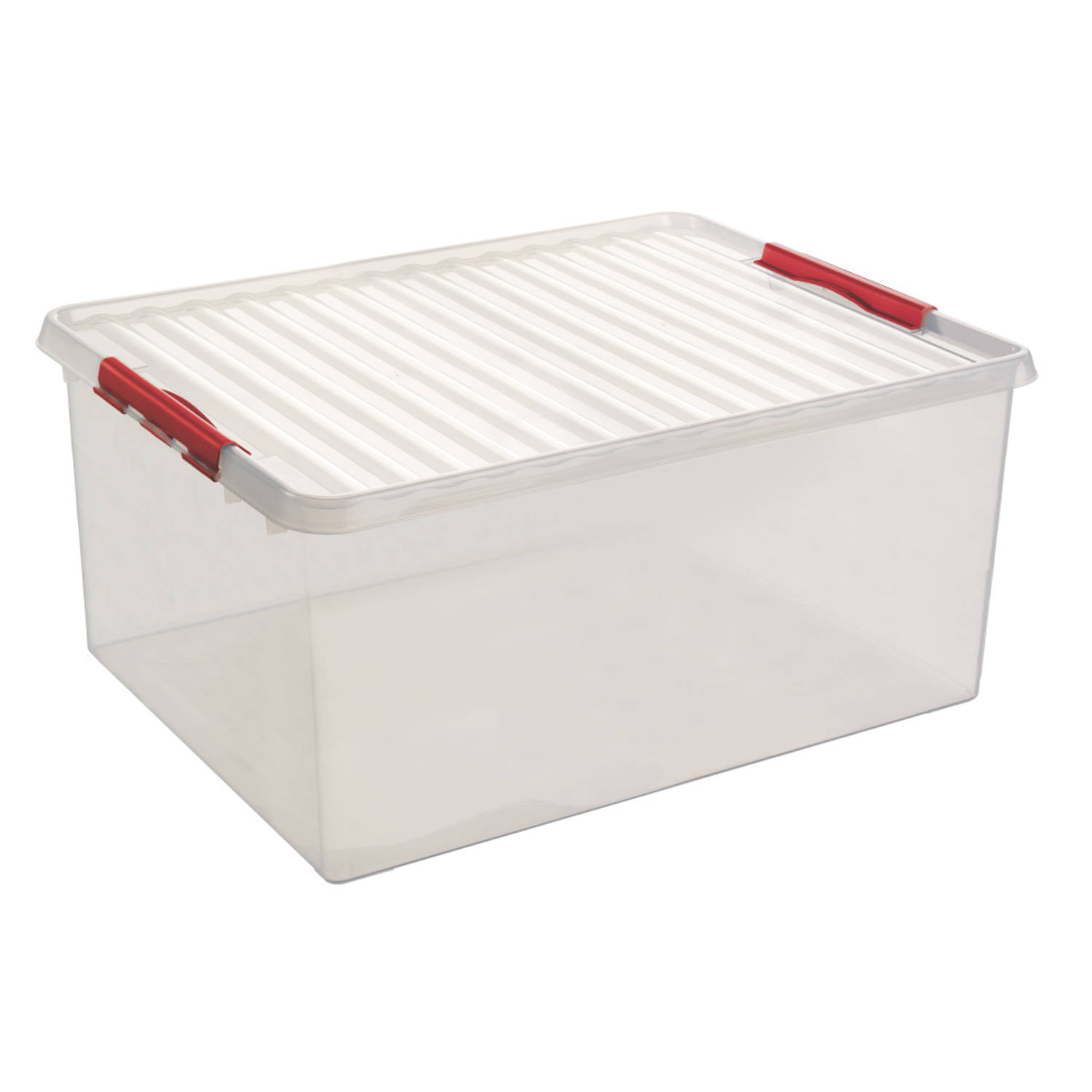 Q-line Opbergbox - Extra groot - 120L - transp/rood