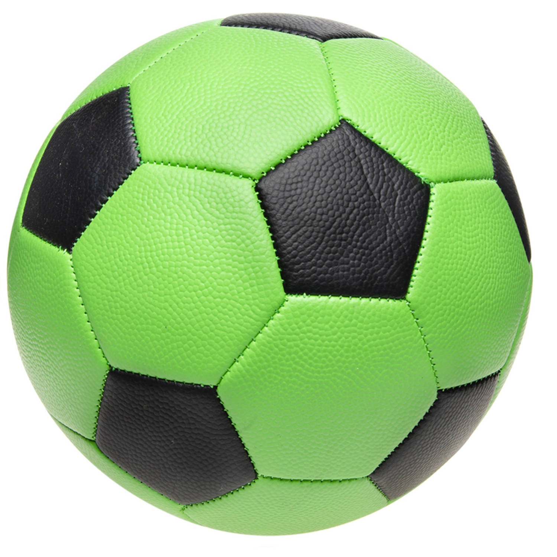 LG Imports bal voetbalprint 22 cm groen