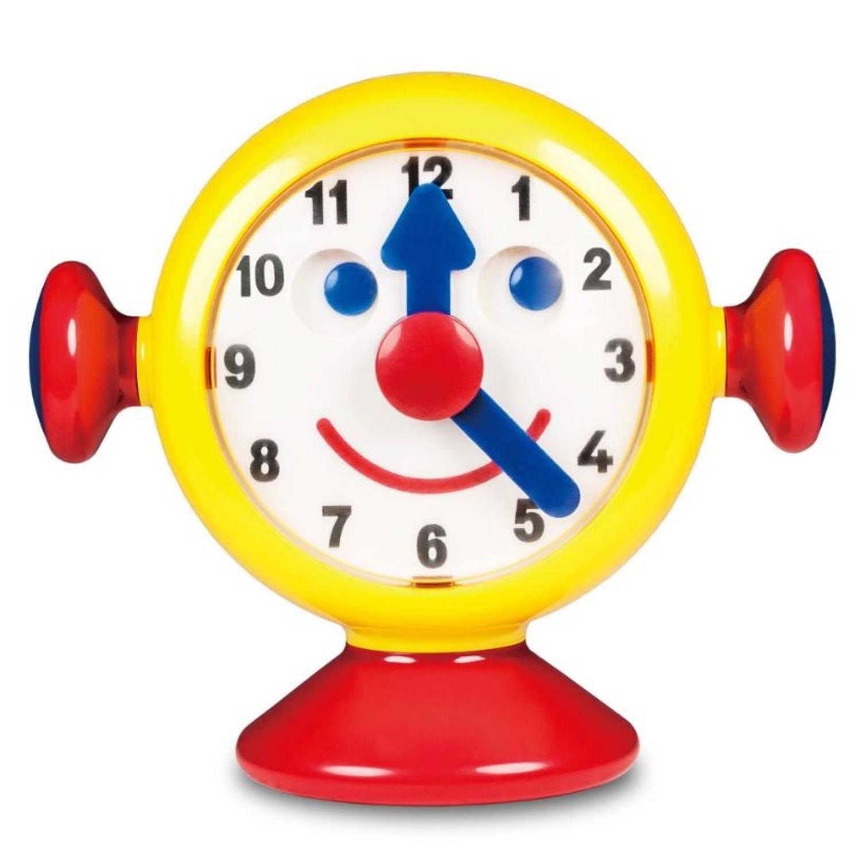 Afbeelding van Ambi Toys tick tock klok13,5 cm geel/rood