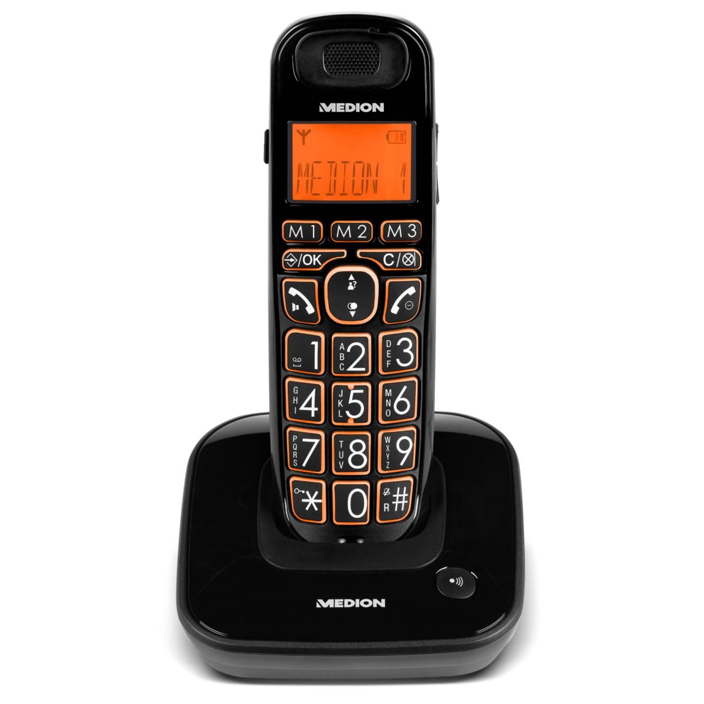 MEDION® LIFE E63197 Single DECT telefoon (zwart)