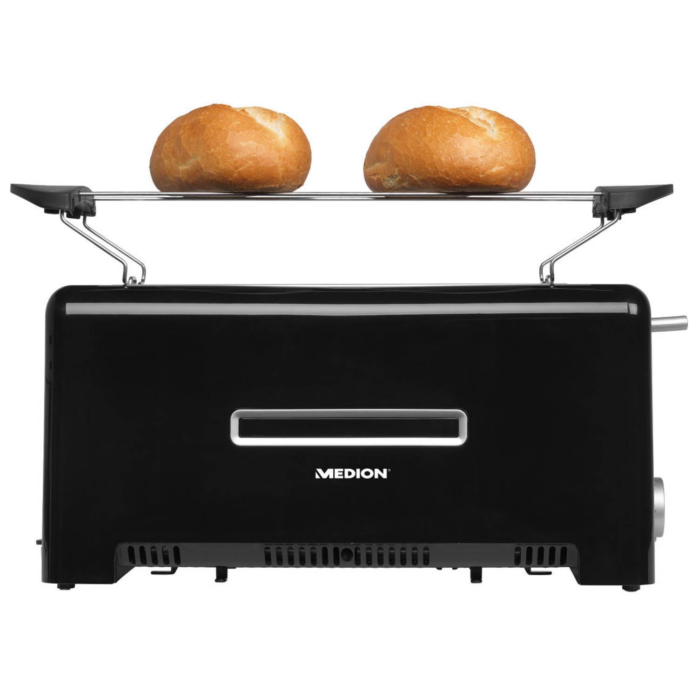 MEDION® Dubbele broodrooster voor 4 boterhammen MD 15709