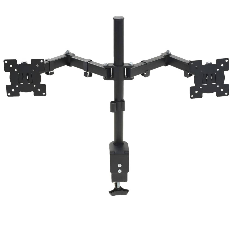 vidaXL Schermhouder 32 dubbele armen in hoogte verstelbaar