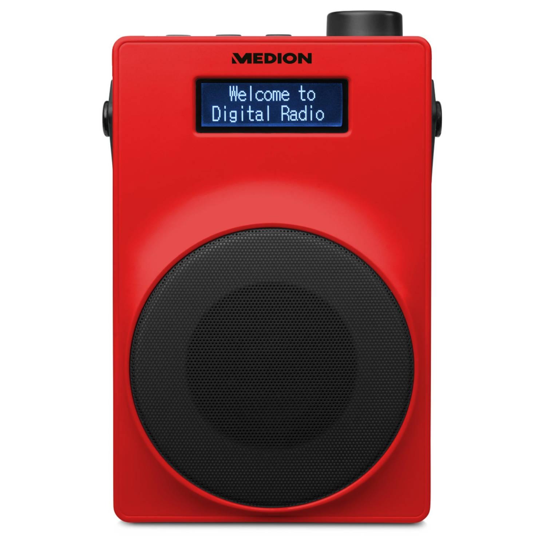 MEDION® LIFE E66880 Draagbare DAB+ Radio (rood)