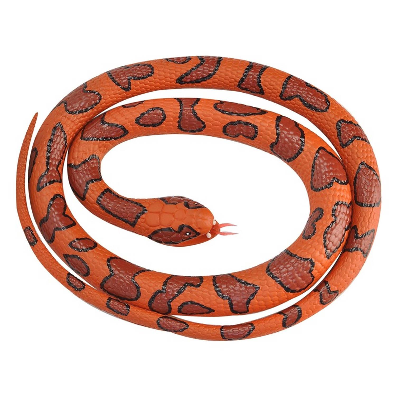 Afbeelding van Rubberen speelgoed moccassin slang 117 cm - speelgoed dieren nepslangen