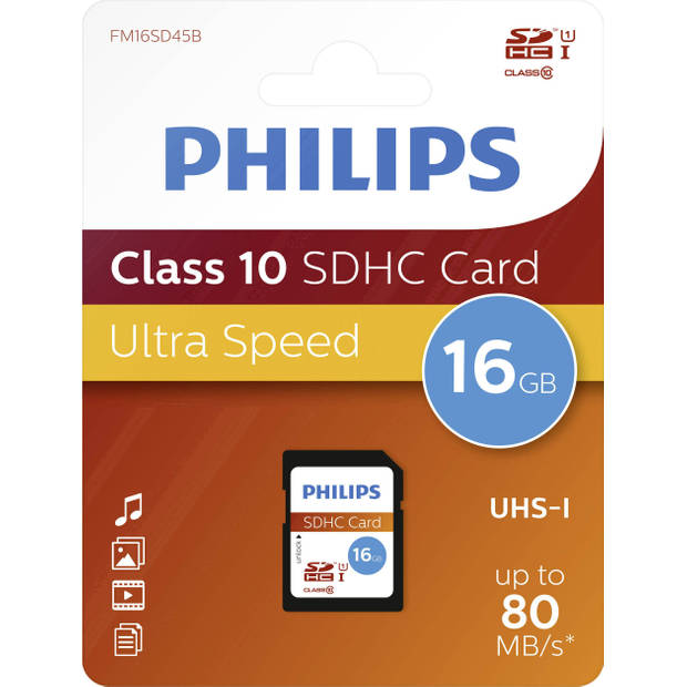 Philips SDHS geheugenkaart 16 GB Ultra High Speed