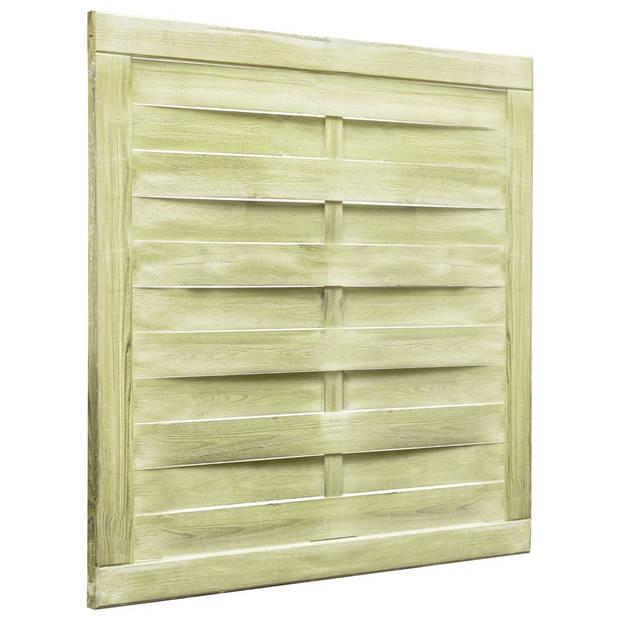 vidaXL Poort 100x100 cm FSC geïmpregneerd grenenhout groen