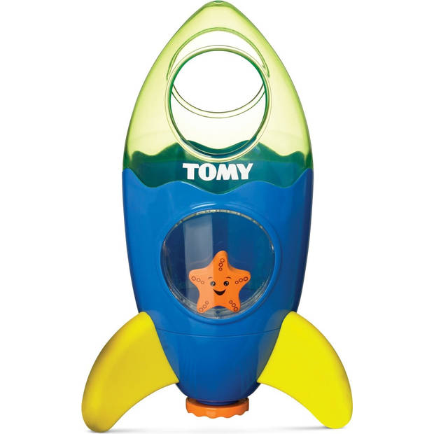 Tomy waterfontein raket junior 23 cm blauw/groen