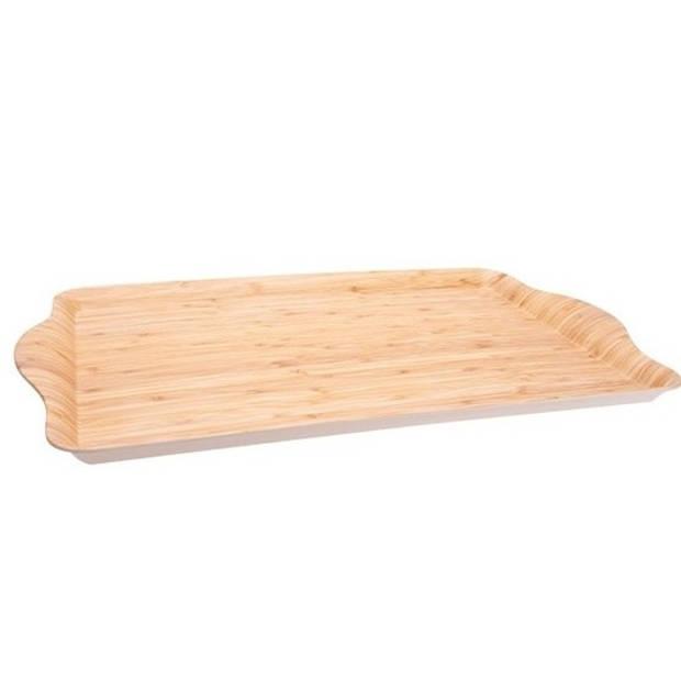 Bamboe dienblad/serveerblad net fineer 45 x 31 x 2 cm - Dienbladen/serveerbladen