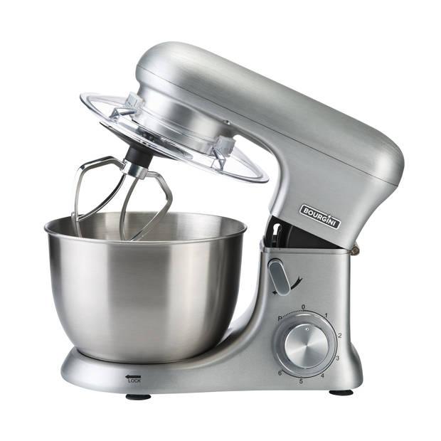 Bourgini keukenmachine Kitchen Chef Pro - geborsteld aluminium