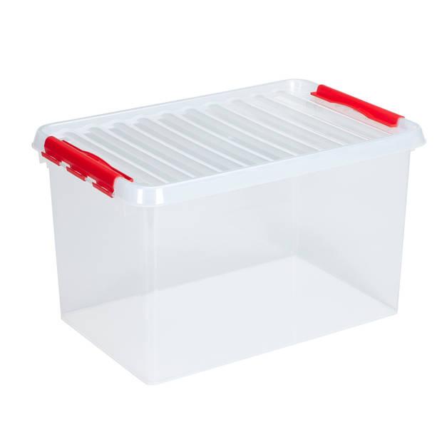Q-line Opbergbox - 62L - transp/rood