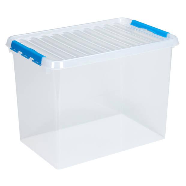 Q-line Opbergbox - 72L - transp/blauw