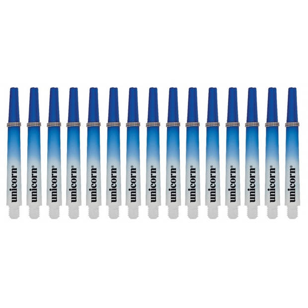 Unicorn Gripper 3 Two-Tone shafts medium blauw 15 stuks