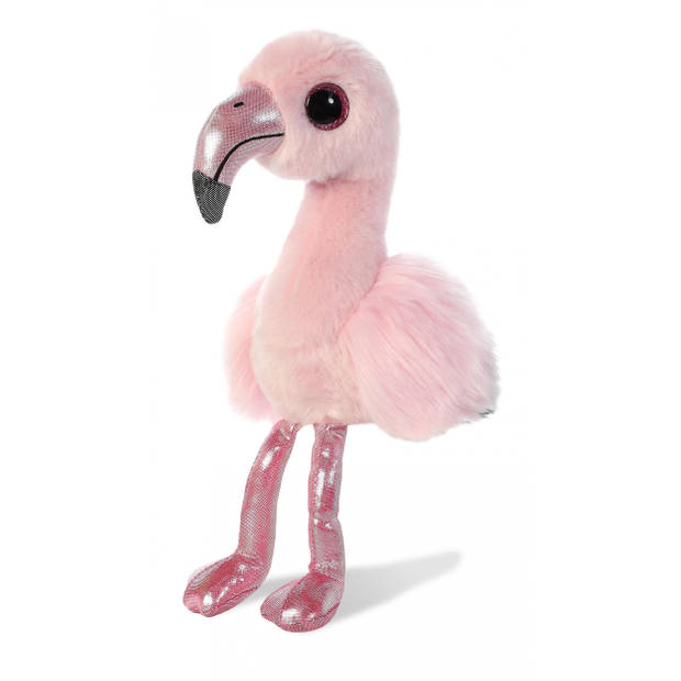 Aurora flamingoknuffel Flavia 18 cm roze