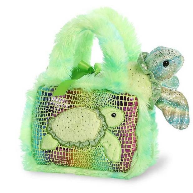 Aurora knuffel Fancy Pal schildpad 20,5 cm groen