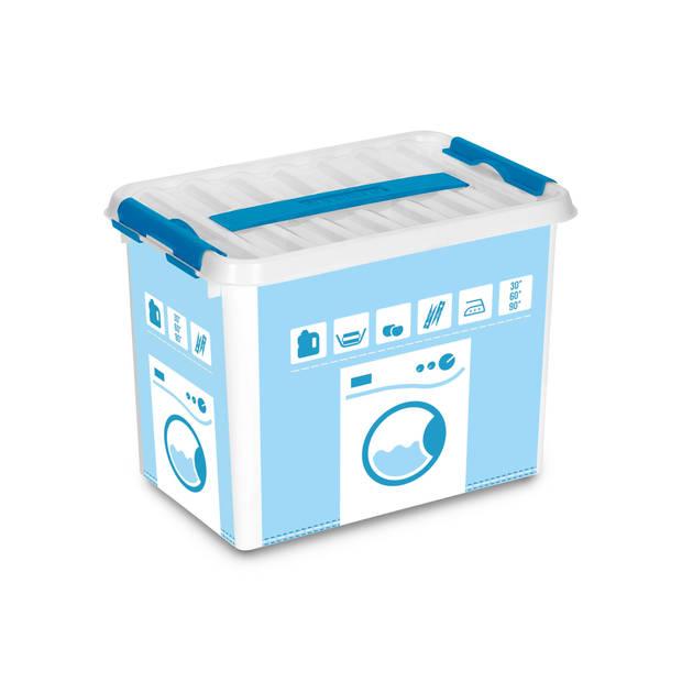 Q-line Was Box – 9L - wit/transp.-blauw