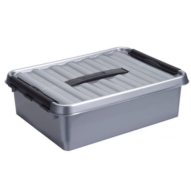 Q-line Opbergbox - 10L - metaal/zwart