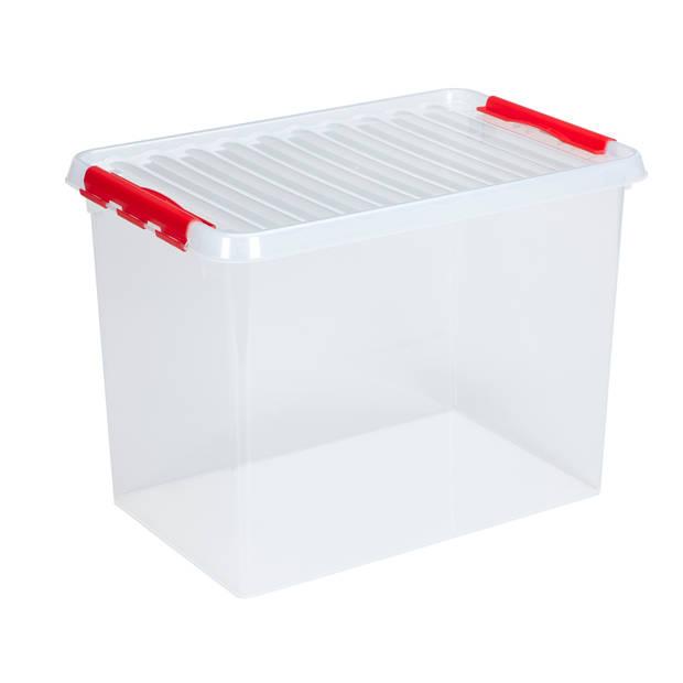 Q-line Opbergbox - 72L - transp/rood
