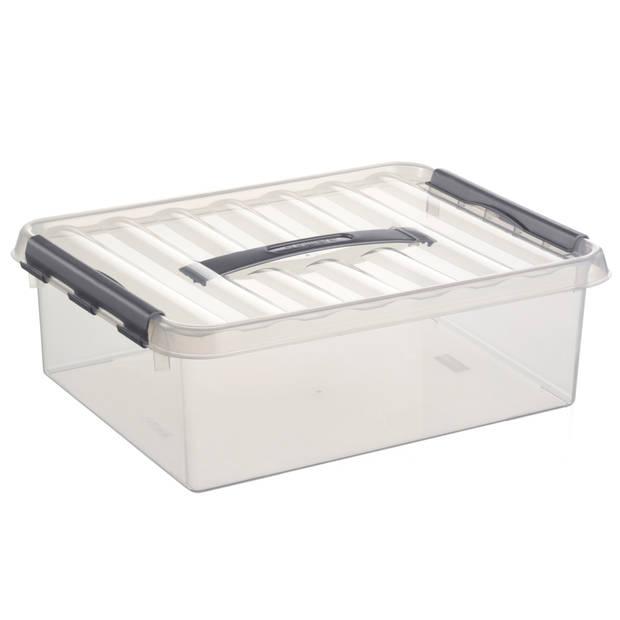 Q-line Opbergbox - 10L - transp/metaal