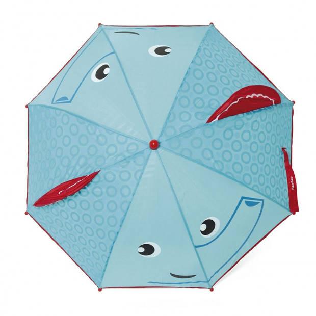 Fisher-Price paraplu Olifant blauw/rood 80 cm