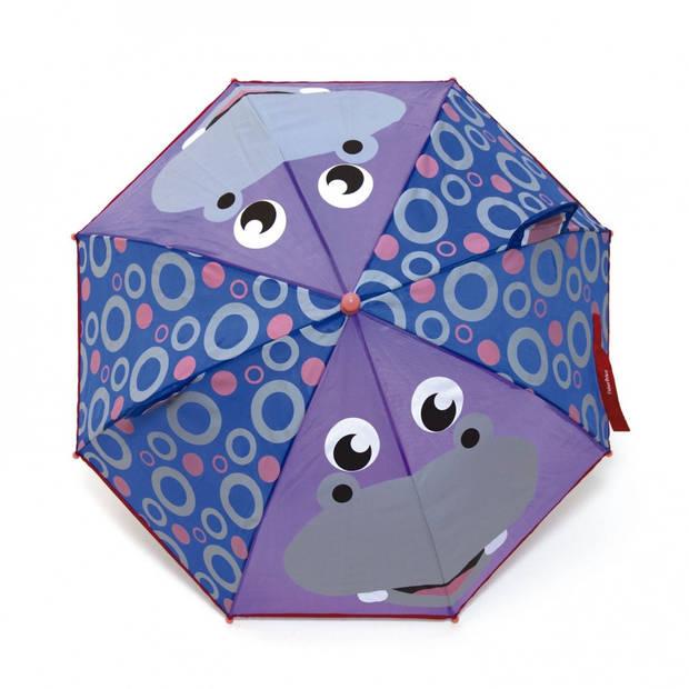 Fisher-Price paraplu Nijlpaard paars/blauw 80 cm