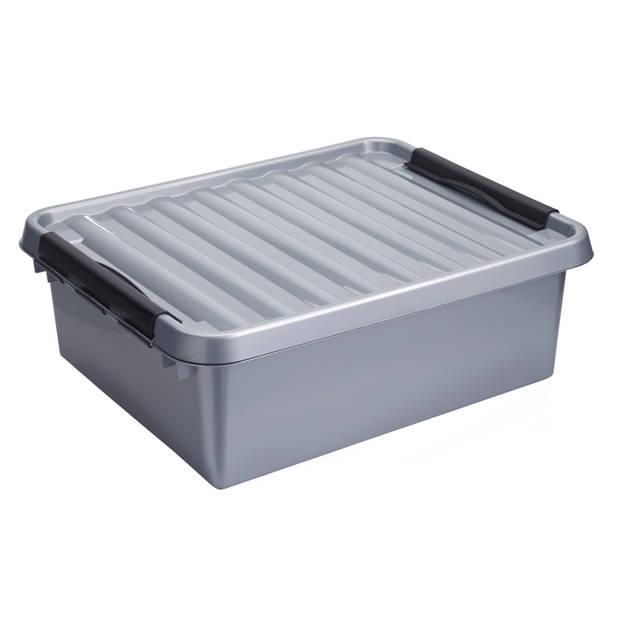 Q-line Opbergbox - 25L - metaal/zwart