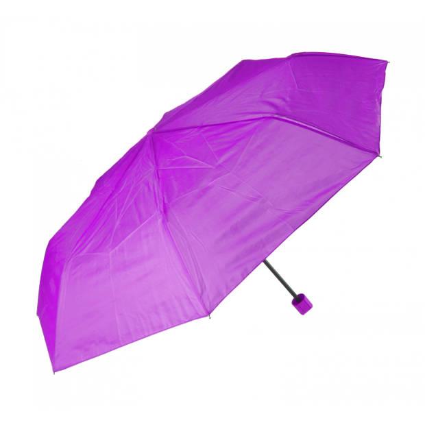 Perletti paraplu compact paars 96 cm diameter