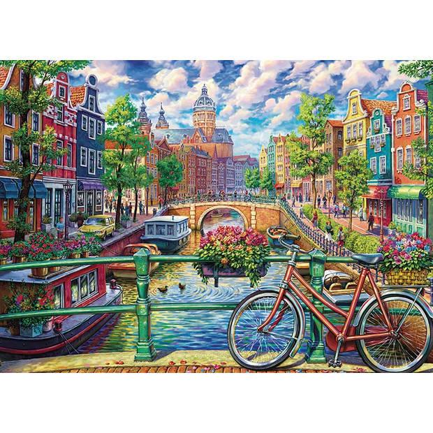 Cobble Hill Legpuzzel Amsterdam canal 1000 stukjes