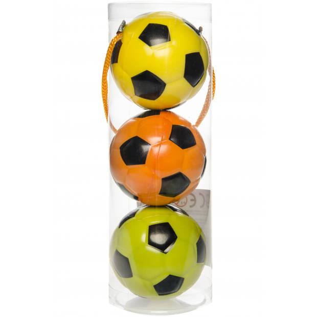 LG-Imports beachball voetballetjes 6 cm 3 stuks