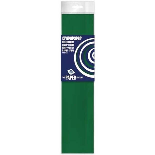 Crepe papier plat groen 250 x 50 cm - Knutselen met papier - Knutselspullen