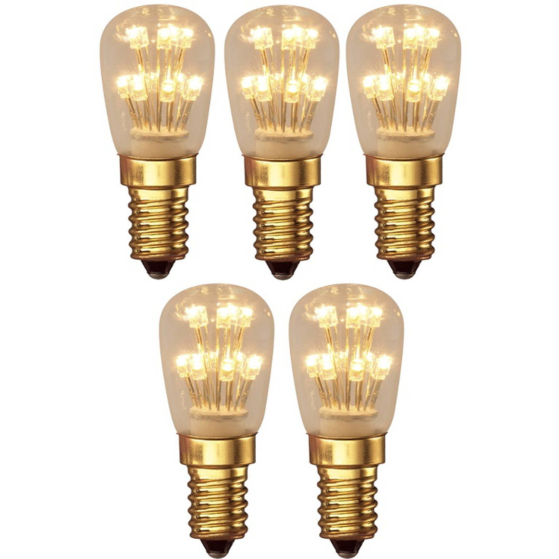 5 stuks - Calex Pearl LED Schakelbord 1W E14 13-leds 2100K 70lm