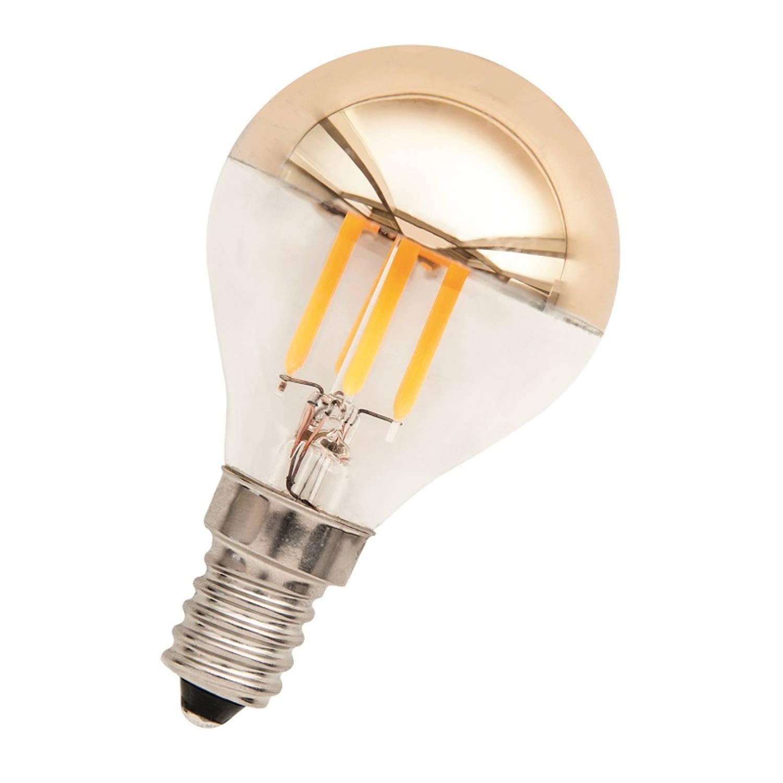 Afbeelding van Bailey LED Kopspiegellamp Goud E14 3W 2700K 290lm Dimbaar Ø4.5x7.8cm