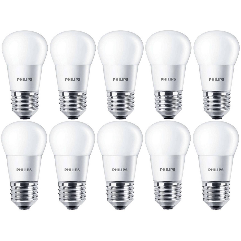 10 stuks - Philips LED Kogellamp 5.5-40W/827 E27 2700K 470lm