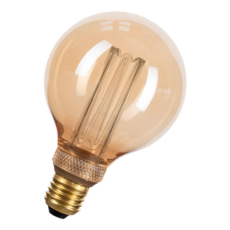 Afbeelding van Bailey LEDfiber Glow G95 E27 4W 1800K 200lm Goud Ø95x145mm