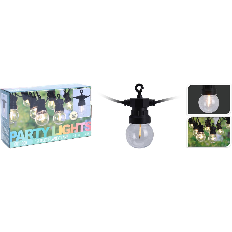 NoName Feestverlichting 10 lampen 100 leds helder