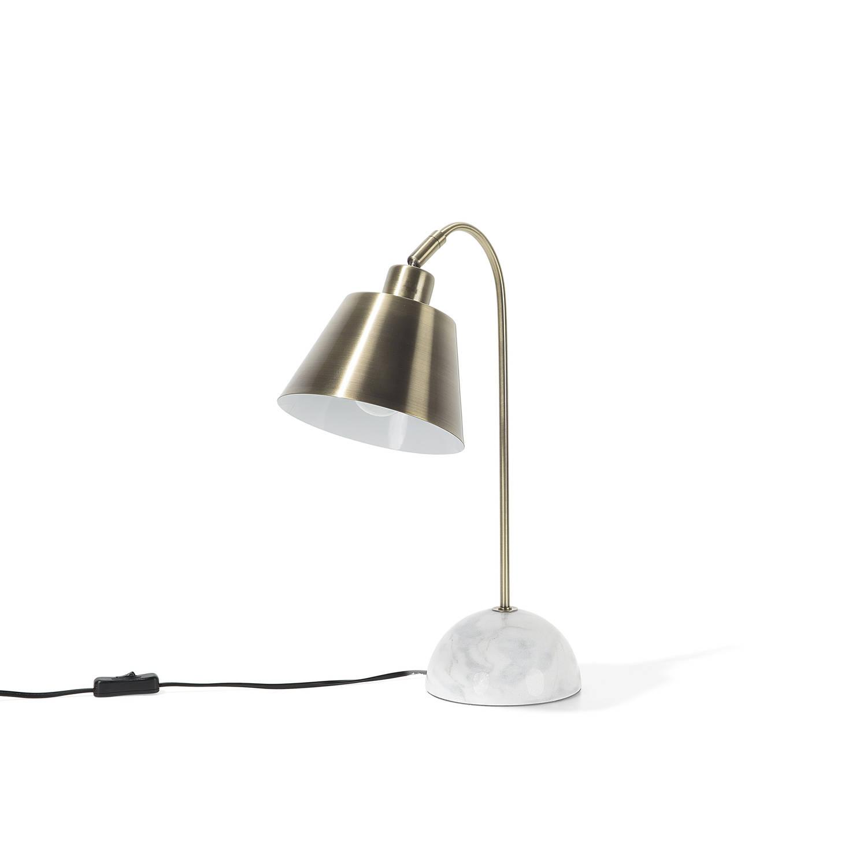 Beliani Tara Tafellamp Messing Metaal 18x15x46