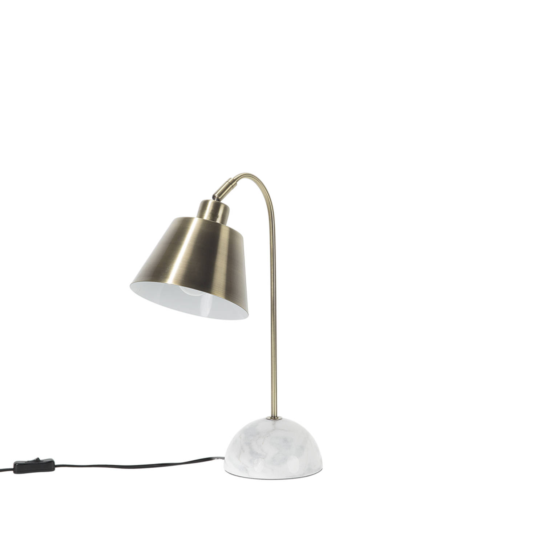 Korting Beliani Tara Tafellamp Metaal 15 X 18 Cm