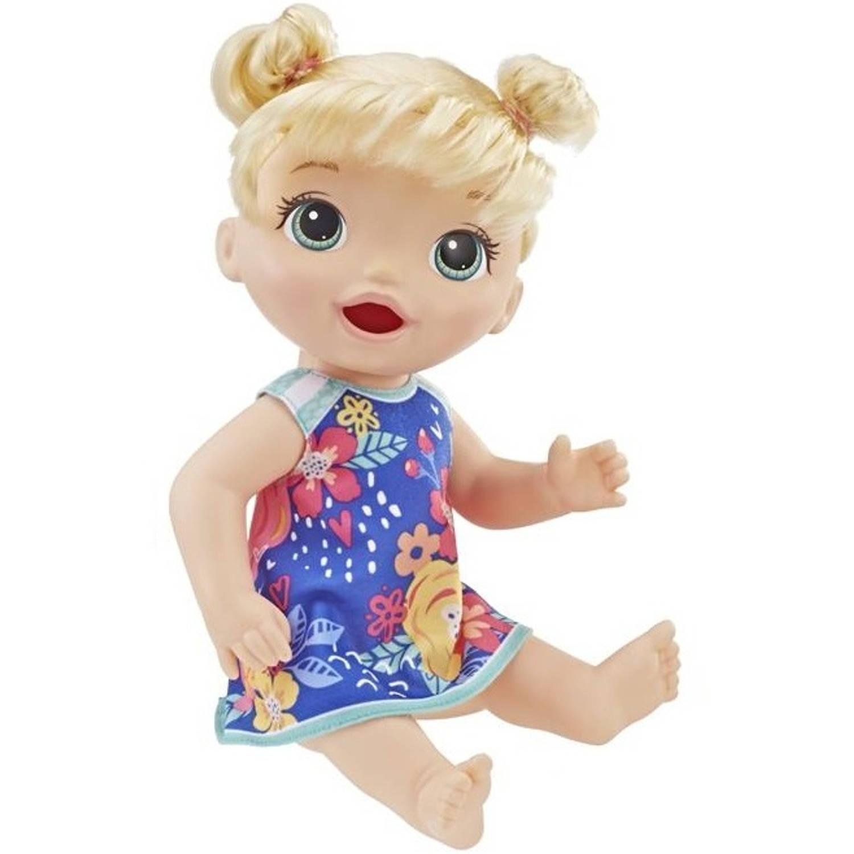 Hasbro babypop Baby Alive Super Snacks blond 33 cm blauw